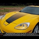 Corvette Hood Fade Stripe Decal - Black : 2005-2013 C6, Z06, Grand Sport