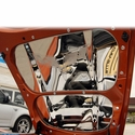 """Corvette Hood Panel with C6 Crossed Flags and """"CORVETTE"""" Script - Insert 2 Pc. - Polished Stainless Steel : 2005-2013 C6"""