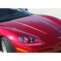 Corvette Hood Stripes / LS2 Corvette Decals : 2005-2007 C6
