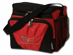 Corvette Ice House Cooler with C6 Emblem - Red/Black (05-12 C6)