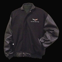 Corvette Jacket - Varsity Jacket w/Lamb Sleeves and C6 Emblem : 2005-2013