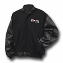 Corvette Jacket - Varsity Jacket w/Lamb Sleeves Embroidered with Z06 505HP Emblem 2006-2013 Z06