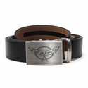 Corvette Leather Belt with Brushed Nickel Buckle : C5 Logo