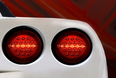 Corvette LED Brake Lights / LED Taillights - Red or Black : 2005-2013 C6 all