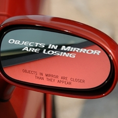 Corvette Letter Set - Objects In Mirror Are Losing