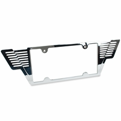Corvette License Plate Frame - Billet Aluminum Chrome Winged (05-12 C6/C6 Z06/ZR1/Grand Sport)