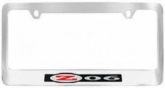 Corvette License Plate Frame - Chrome with Z06 Logo (01-04 Z06)