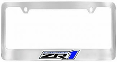 Corvette License Plate Frame - Chrome with ZR1 Logo (09-13 ZR1)