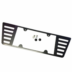 Corvette License Plate Frame Color-Matched Carbon Fiber Look Finish : 2005-2013 C6