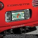 Corvette License Plate Frame - Perforated Stainless Steel : 1997-2004 C5 & Z06