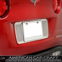 Corvette License Plate Frame - Perforated Stainless Steel : 2005-2013 all