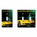 Corvette Light Switch Plate Covers with Z06 Image (06-12 C6 Z06)