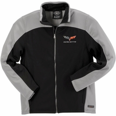 Corvette Men's Jacket Bonded with C6 Logo - Gray/Black (05-12 C6)