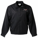 Corvette Men's Jacket Cutter and Buck Chinook with C6 Emlem - Black