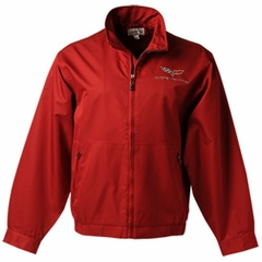 Corvette Men's Jacket Cutter and Buck Chinook with C6 Emlem - Red