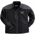 Corvette Men's Jacket Hybrid with C5 Logo - Black/Grey (97-04 C5)