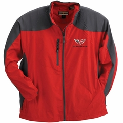 Corvette Men's Jacket Hybrid with C5 Logo - Red/Grey (97-04 C5)