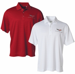 Corvette Men's Polo Shirt with C6 Logo - Chili Red by Callaway Performance (05-12 C6)