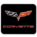 Corvette Mouse Pad with C6 Emblem - Black (05-12 C6)