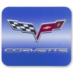 Corvette Mouse Pad with C6 Emblem - Blue (05-12 C6)