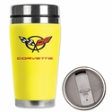 Corvette - Neoprene Wetsuit Travel Mug - Yellow C5 Logo : 1997-2004 C5 - Mugzie gm137