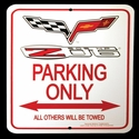 Corvette Parking Sign 505HP : C6/Z06