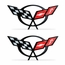 "Corvette Domed Decal 1.75"" x .85� : 1997-2004 C5 Logo - click to enlarge"