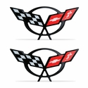 "Corvette Domed Decal 2.375"" x 1.17� : 1997-2004 C5 Logo"