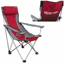 Corvette Premium Signature Chair with C6 Logo Maroon/Grey