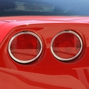 Corvette Rear Taillight Bezels - Billet Chrome - 2005-2013 C6, Z06, ZR1, Grand Sport