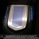 Corvette Ribbed Engine Shroud Cover - Polished Stainless Steel : 2009-2013 ZR1