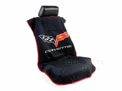 Corvette Seat Armor Protective Cover - Black Pair (05-13 C6, Grand Sport, Z06, ZR1)