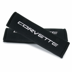 Corvette Seatbelt Harness Pad - Black : 1997-2004 C5