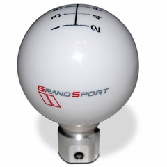 Corvette Shift Knob - 6 Speed Pattern & Grand Sport Emblem - GM Licensed : 2005-2013 C6