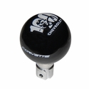 Corvette Shift Knob - Corvette Script & 100th Anniversary Emblem - GM Licensed : 2005-2013 C6