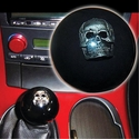 Corvette Shift Knob - Skull Inlaid on Black : 2005-2013 C6,Z06,ZR1,Grand Sport