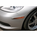 Corvette Side Marker Covers - Billet Chrome 2 Pc. (05-13 C6)