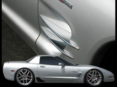 Corvette Side Spears - Billet Aluminum Chrome (97-04 C5 / C5 Z06)