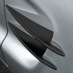 Corvette Side Spears Billet - Semi-Gloss Black Powder Coat : 97-04 C5, Z06