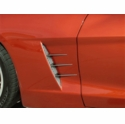 Corvette Side Fender Vent Spears - Laser Mesh Stainless Steel : 2005-2013 C6
