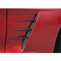 Corvette Side Vent Perforated Grilles with Spears - Blakk Stealth : 2005-2013 C6