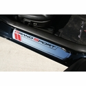 Corvette Sill Plates - Billet Aluminum Chrome with Grand Sport Logo (10-13 Grand Sport)