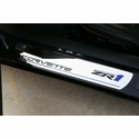 Corvette Sill Plates - Billet Aluminum Chrome with ZR1 Logo (09-13 ZR1)