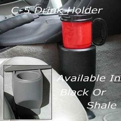 Corvette Single Cup Holder Travel Buddy - Black : 1997-2004 C5 & Z06