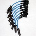 Corvette Spark Plug Wires (Set) - Granatelli Motorsports 8mm Blue : 1997-2004 LS1,LS6 & 2014 Stingray LT1