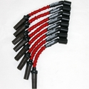 Corvette Spark Plug Wires (Set) - Granatelli Motorsports 8mm Red : 1997-2004 LS1,LS6 & 2014 Stingray LT1