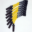 Corvette Spark Plug Wires (Set) - Granatelli Motorsports 8mm Yellow: 1997-2004 LS1,LS6 & 2014 Stingray LT1