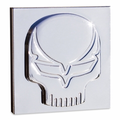 Corvette Speed Demon Skull Badges - Chrome (Pair)