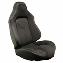 Corvette Sport Seat Foam & Seat Covers - Black/Black