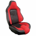 Corvette Sport Seat Foam & Seat Covers - Red/Black